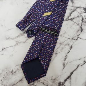 NWOT Ferragamo Silk Neck Tie Tropical Palm Tree